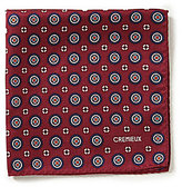 Daniel Cremieux Medallion Print Silk Pocket Square