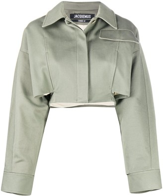 Jacquemus Cropped Long-Sleeve Jacket