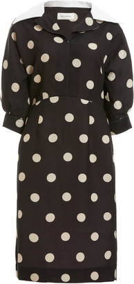 Wales Bonner Vilma Polka-Dot Print Cady Dress