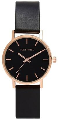 TONY+WILL Small Classic Black TWT004C Watch