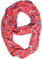 Peach Couture Colorful Vintage Graphic Bird Design Soft Infinity Loop Scarf