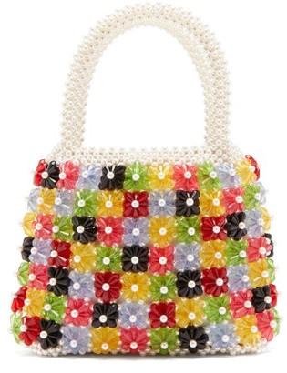 Shrimps Avery Bead And Faux Pearl-embellished Bag - Multi