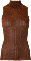 Gig - turtle neck knitted tank - women - Polyester - P