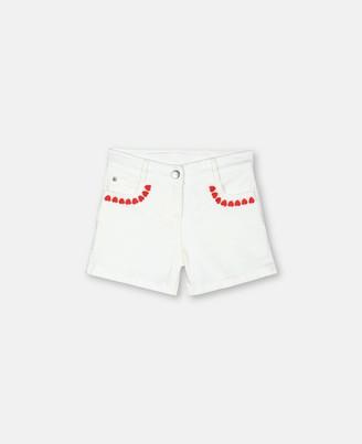 Stella Mccartney Kids Stella McCartney hearts denim shorts