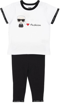 Karl Lagerfeld Paris Print T-shirt & Leggings