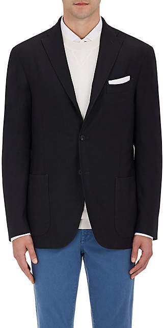 Boglioli Men's Wool Hopsack Three-Button Sportcoat - Black