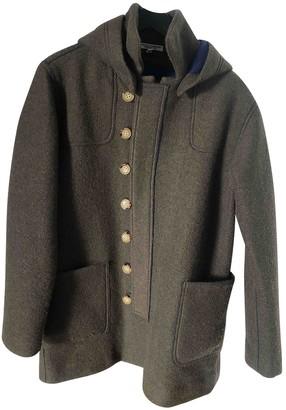 Current/Elliott Current Elliott Khaki Wool Coat for Women