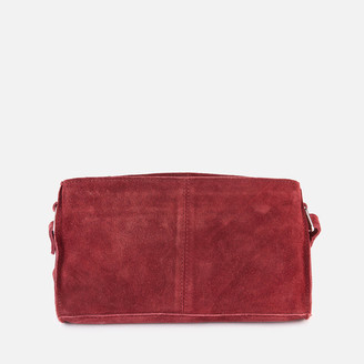 Nunoo Women's Stine New Suede Cross Body Bag - Rasberry