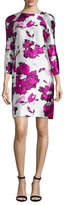 Oscar de la Renta Silk Printed Sheath Dress