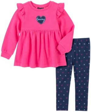 Tommy Hilfiger Toddler Girls 2 Piece Tunic and Legging Set