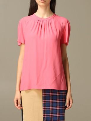 Boutique Moschino Moschino Boutique Top In Silk Blend Crecirc;pe