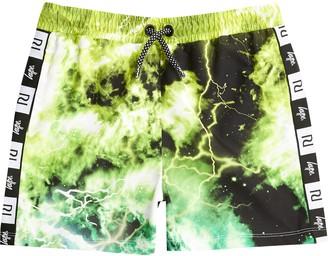 Hype River Island Boys RI x Green tie dye swim shorts