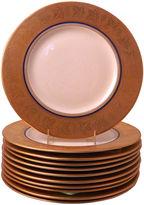 One Kings Lane Vintage 11 Cobalt & Gilt Encrusted Dinner Plates