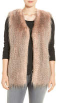 Via Spiga Collarless Faux Fur Vest