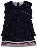 Armani Junior Girls' Tiered Logo-Print Dress - Big Kid