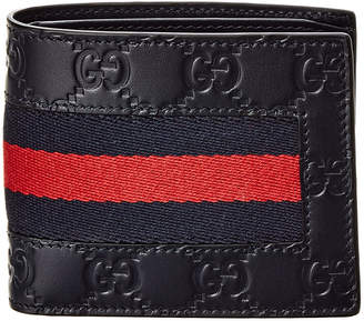 Gucci Signature Web Leather Wallet