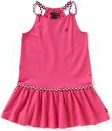 Nautica Little Girls 2T-6X Braided Straps Dropwaist Dress