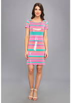 Laundry by Shelli Segal Sugar Stripe Sequin Dress