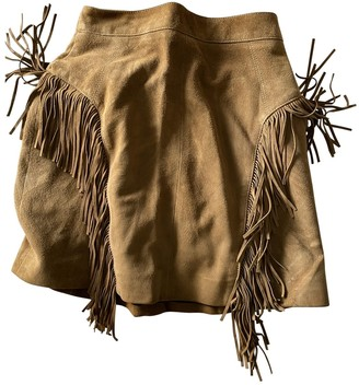 Saint Laurent Brown Suede Skirts