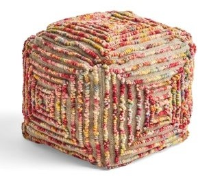 Christopher Knight Home Carnellon Boho Cube Wool Pouf