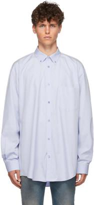 Balenciaga Blue Poplin Logo Shirt