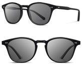 Shwood Men's Kennedy 50Mm Polarized Sunglasses - Black/ Grey Polarized