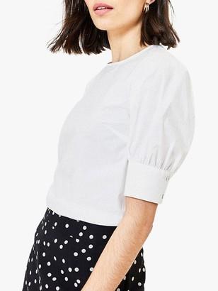 Oasis Balloon Sleeve Top, White