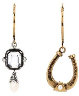 Alexander McQueen Crystal-embellished earrings