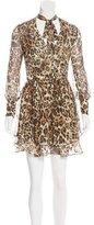 Intermix Silk Leopard Print Dress