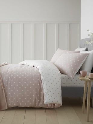 Catherine Lansfield Cl Brushed Cotton Spot Duvet Set - Ks