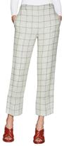 Wes Gordon Linen Square Jacquard Trousers