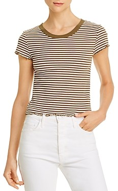 Comune Madie Striped Cropped Tee