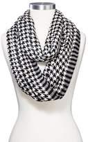 Sylvia Alexander Women's Houndstooth Infinity Fashion Scarf Black/White