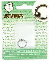 Studex Captive Bead Piercing Earrings