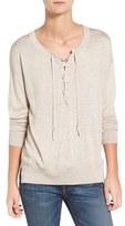 Splendid Women's Lakewood Lace-Up Sweater