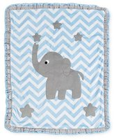 "Boogie Baby Big Foot"" Elephant Blanket, Blue"