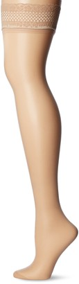 Dim Up Sublim - Set of 2 - Self-tying stockings - 15 deniers - Womens - Capri Beige Small (Manufacturer Size: 1)