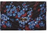 Dorothy Perkins Womens Black Floral Satin Twistlock Clutch Bag- Black