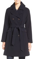 Eliza J Women's Water Repellent Gabardine Trench Coat