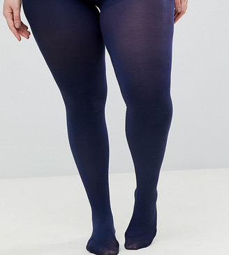 ASOS DESIGN Curve super stretch 90 denier tights in navy