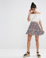 Asos Skater Skirt in Ditsy Print