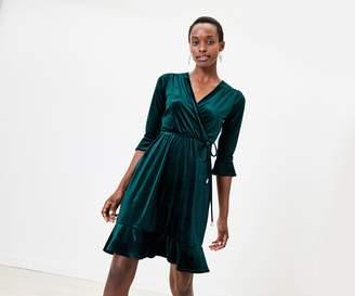 Oasis Velvet Wrap Tea Dress