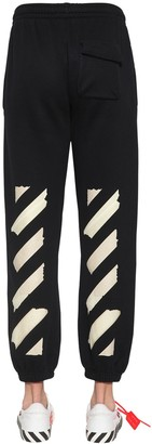 Off-White Off White PRINT TAPE ARROWS CROPPED SWEATPANTS