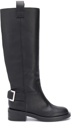 Sergio Rossi Buckled Knee-High Boots