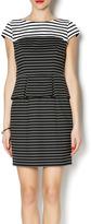 Ivy & Blu Striped Peplum Dress