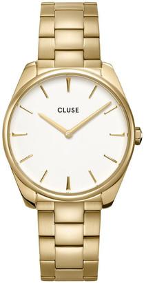 Cluse Feroce CW0101212005 Gold 3 Link/White