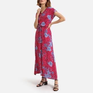 Kaporal Printed Maxi Dress with V-Neck