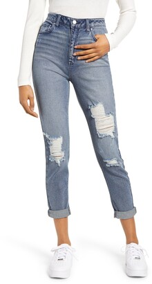Tinsel Distressed Mom Jeans