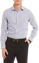 Hart Schaffner Marx Dobby Stripe Spread Collar Sportshirt