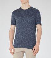 Reiss Fordon - Flecked Crew-neck T-shirt in Blue, Mens
